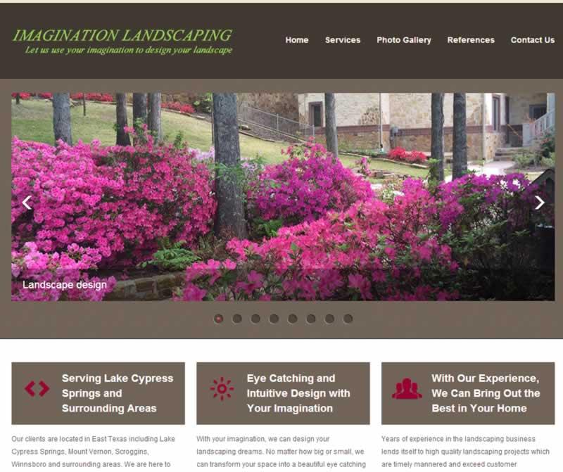 Imagination Landscaping web design and hosting