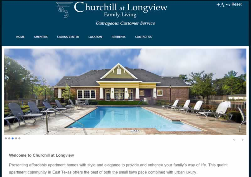 churchill at longview web hosting and web design