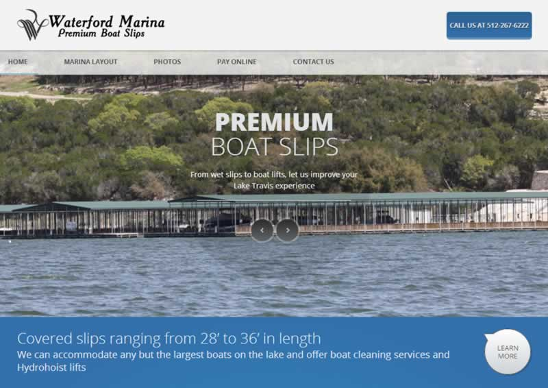 waterford marina web design and web hosting